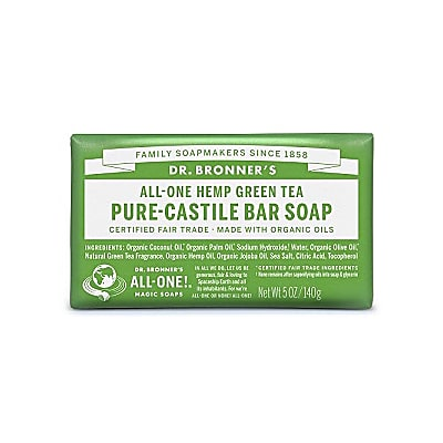PURE-CASTILE BAR SOAP - GREEN TEA