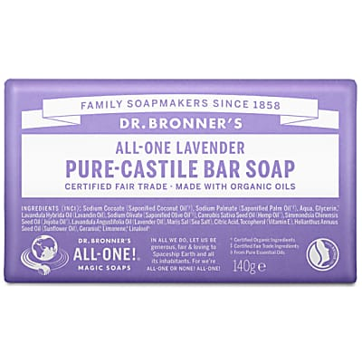 PURE-CASTILE BAR SOAP - LAVENDER