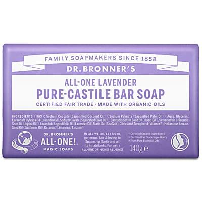PURE-CASTILE BAR SOAP - LAVENDER