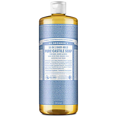 BABY UNSCENTED PURE-CASTILE LIQUID SOAP - 946ml