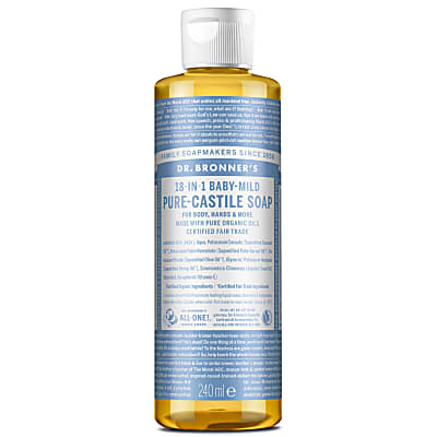 BABY UNSCENTED PURE-CASTILE LIQUID SOAP - 237ml