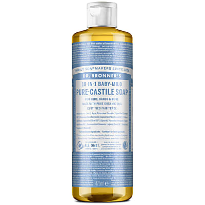BABY UNSCENTED PURE-CASTILE LIQUID SOAP - 473ml