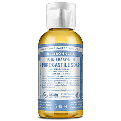 BABY UNSCENTED PURE-CASTILE LIQUID SOAP - 60ml