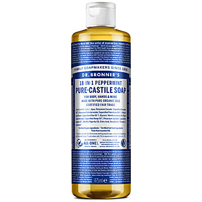 PEPPERMINT PURE-CASTILE LIQUID SOAP - 473ml