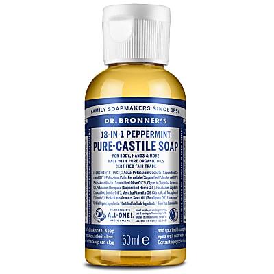 PEPPERMINT PURE-CASTILE LIQUID SOAP - 60ml