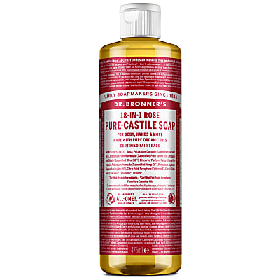 ROSE PURE-CASTILE LIQUID SOAP - 473ml