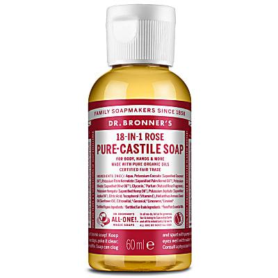 ROSE PURE-CASTILE LIQUID SOAP - 60ml