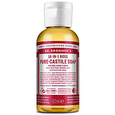 ROSE PURE-CASTILE LIQUID SOAP - 60ml