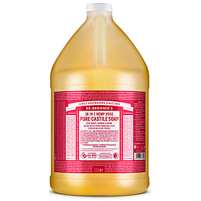 ROSE PURE-CASTILE LIQUID SOAP - 3.8L
