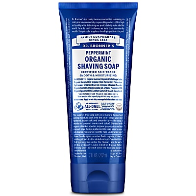 ORGANIC SHAVING SOAP - PEPPERMINT