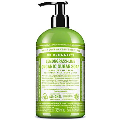 ORGANIC SUGAR SOAP - LEMONGRASS LIME 355ml