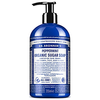 ORGANIC SUGAR SOAP - PEPPERMINT 355ml